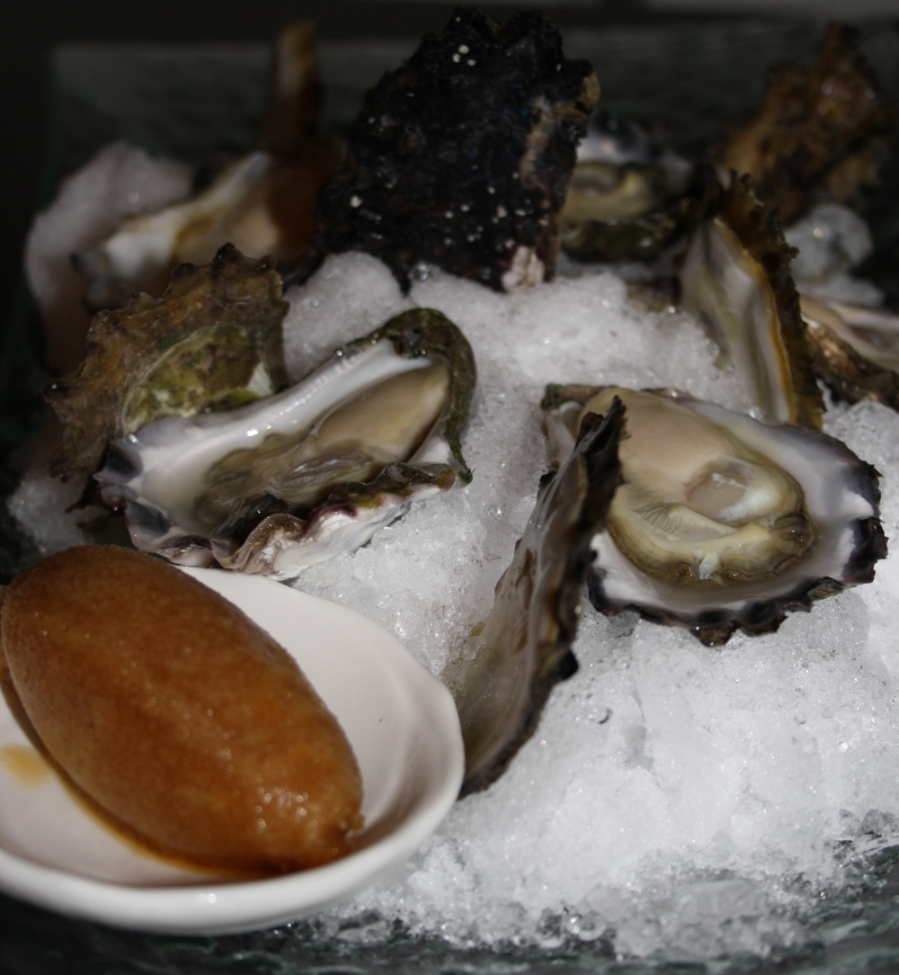 south coast oysters with ponzu granita soju girl