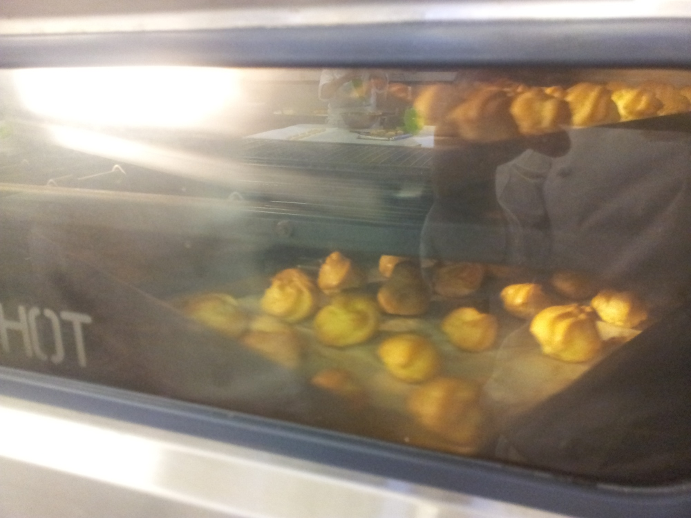 pastry in a oven