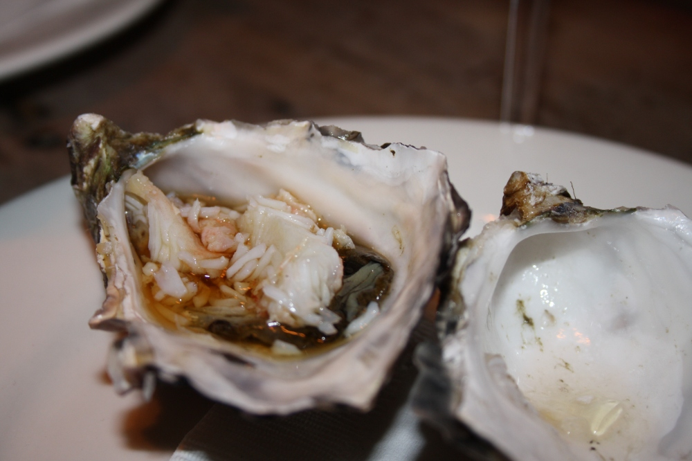 oyster alaskan king crab ponzu dressing