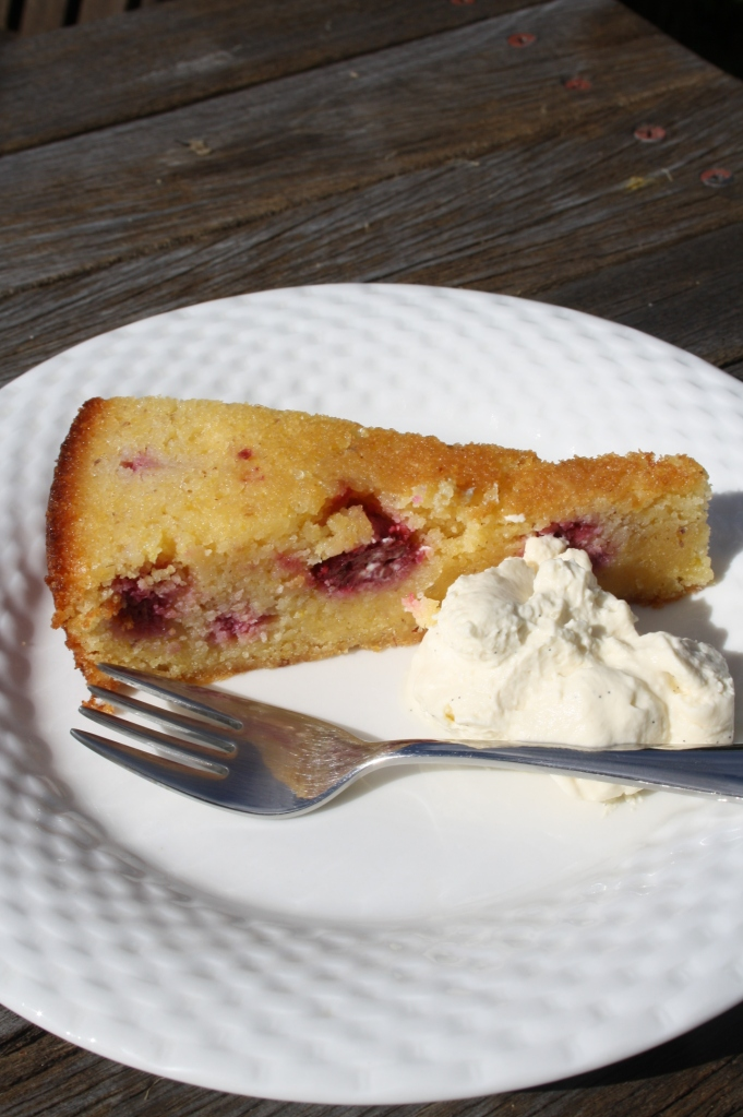 lemon raspberry polenta cake
