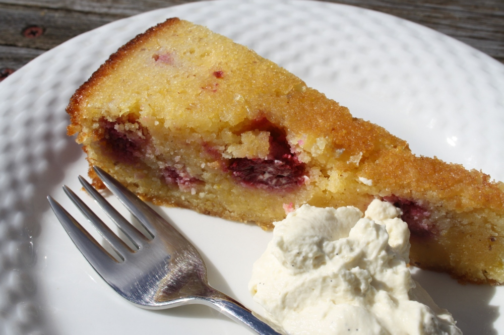 lemon raspberry polenta cake